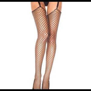 Accessories - Fishnet unfinished thigh highs